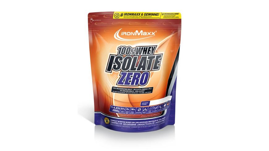 IronMaxx 100% Whey Isolate Zero 750g-Neutral