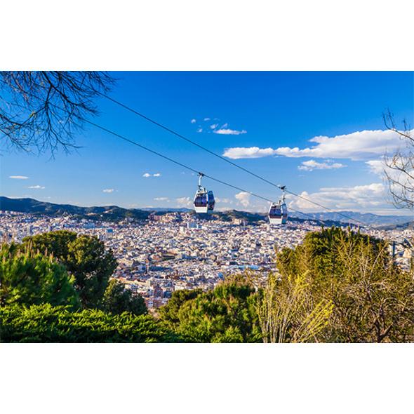 Kurztrip Barcelona mit Montjuic Seilbahnfahrt für 2 (2 Tage)