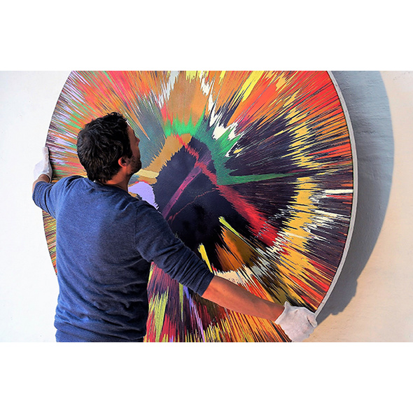 Malkurs Spin Painting