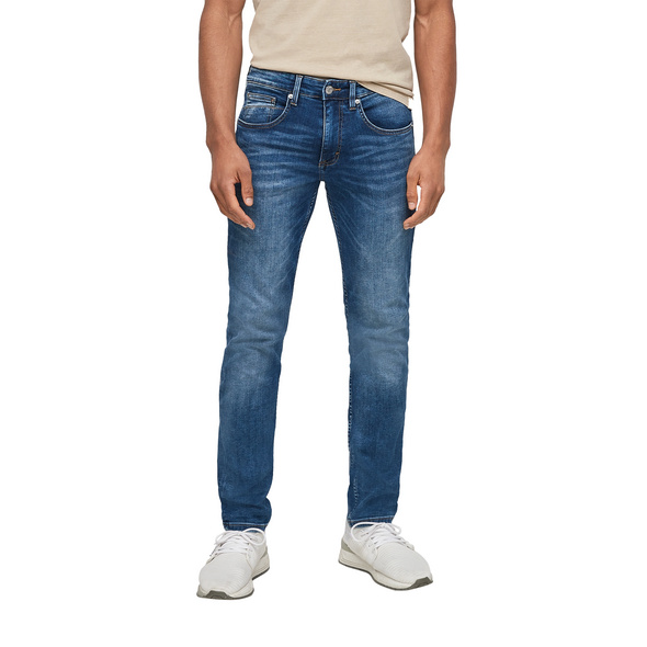 Skinny Fit: Tapered leg-Jeans - Stretchjeans