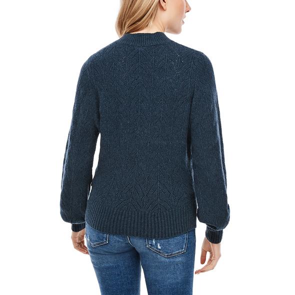 Pullover mit Ajourmuster - Feinstrickpullover