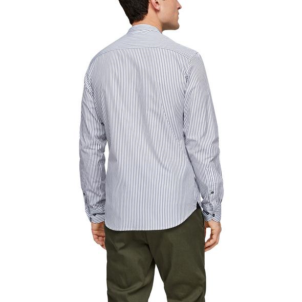 Slim: Hemd mit Stehkragen - Stehkragenhemd
