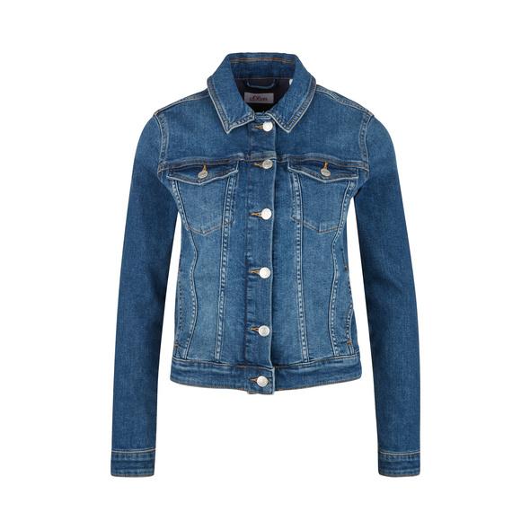 Jeansjacke mit Waschung - Jeansjacke