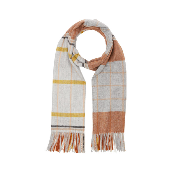 Karierter Schal mit Fransen - Schal