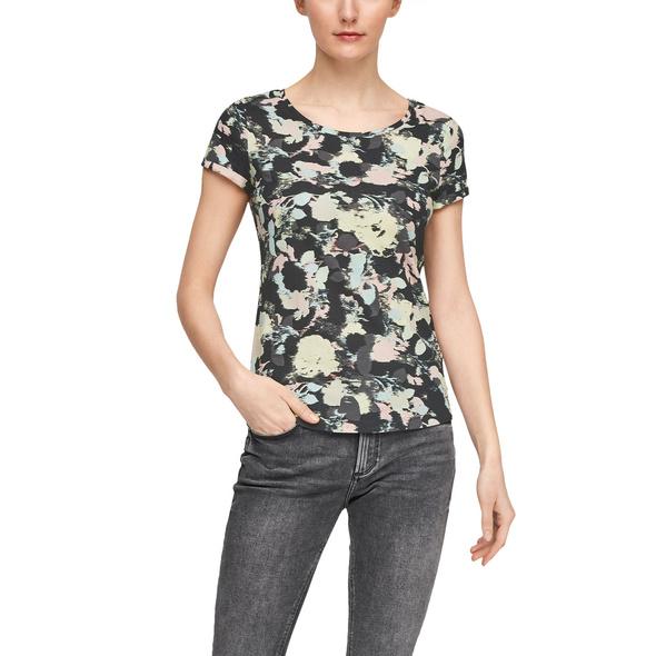 Jerseyshirt mit Allovermuster - T-Shirt
