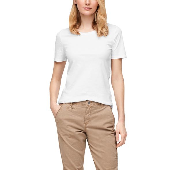 Jerseyshirt mit Rundhalsausschnitt - T-Shirt