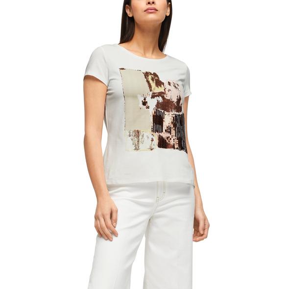 Jerseyshirt mit Pailletten - Jerseyshirt