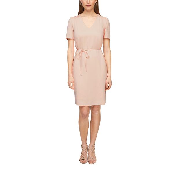 Viskosekleid mit femininem V-Ausschnitt - Kleid