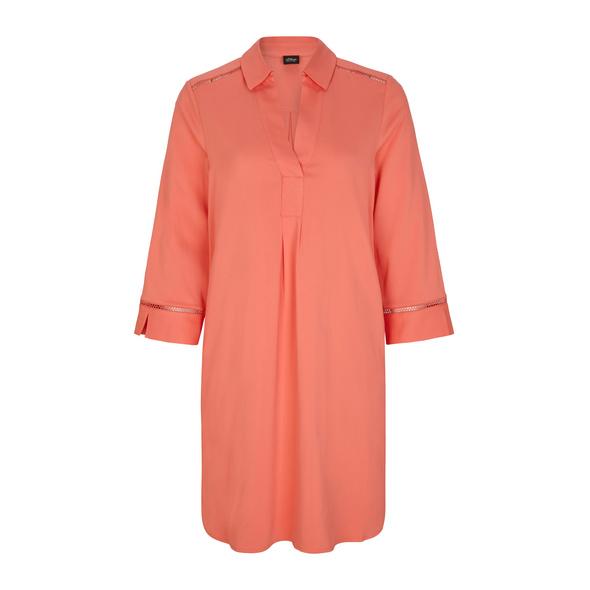 Hemdblusenkleid mit V-Ausschnitt - Blusenkleid
