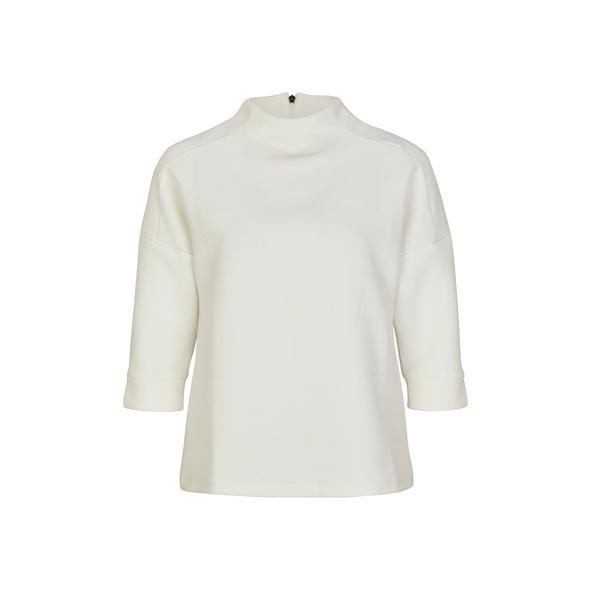 High Neck-Shirt mit Struktur - Jacquard-Shirt