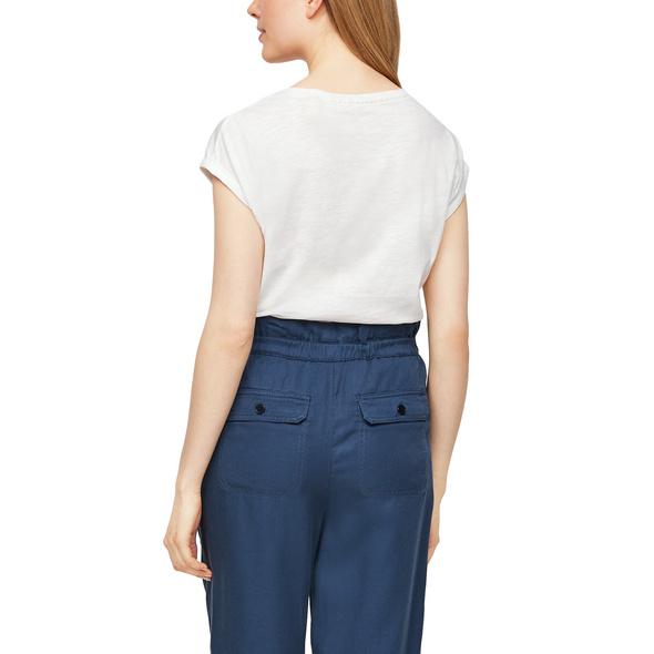 T-Shirt mit Satin-Applikation - Jerseyshirt