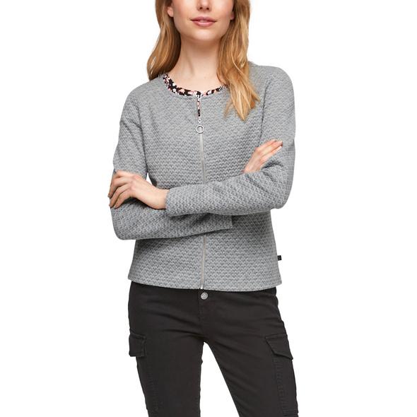 Strukturierte Jacke mit Reißverschluss - Stoffjacke
