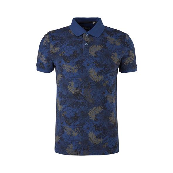 Poloshirt mit Musterprint - Poloshirt
