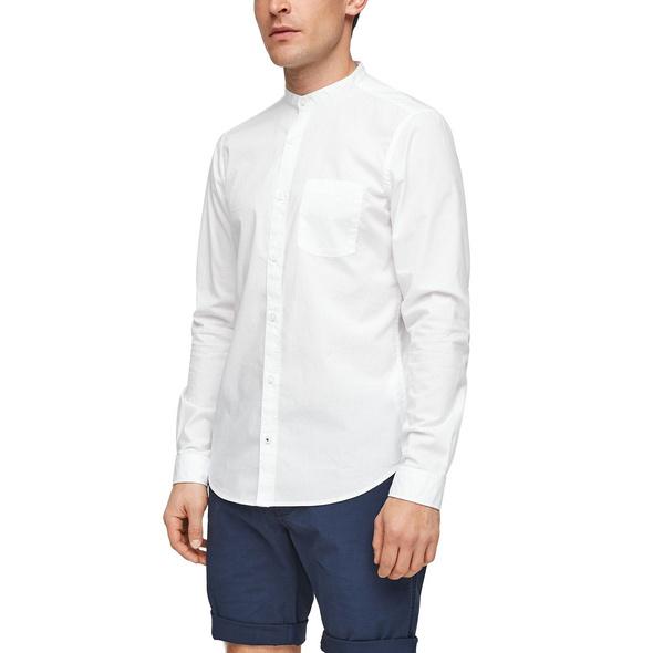 Slim: Hemd mit Stehkragen - Hemd