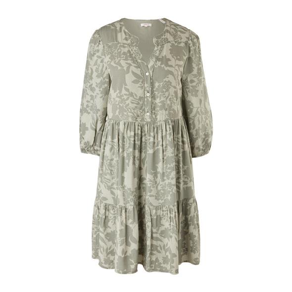 Tunikakleid mit Allover-Muster - Kleid