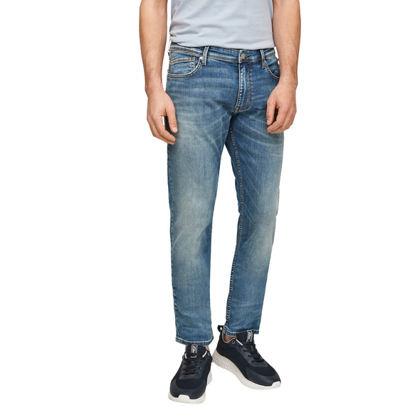 Slim Fit: Stretchjeans mit Waschung - Jeans