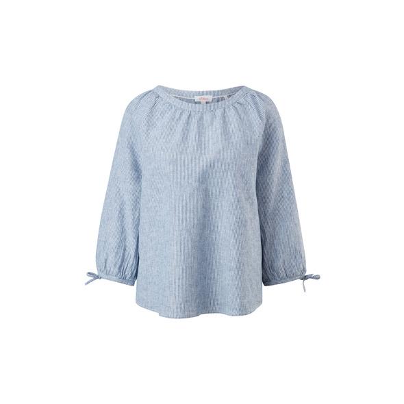 Blusenshirt aus Leinenmix - Leinenmix-Bluse
