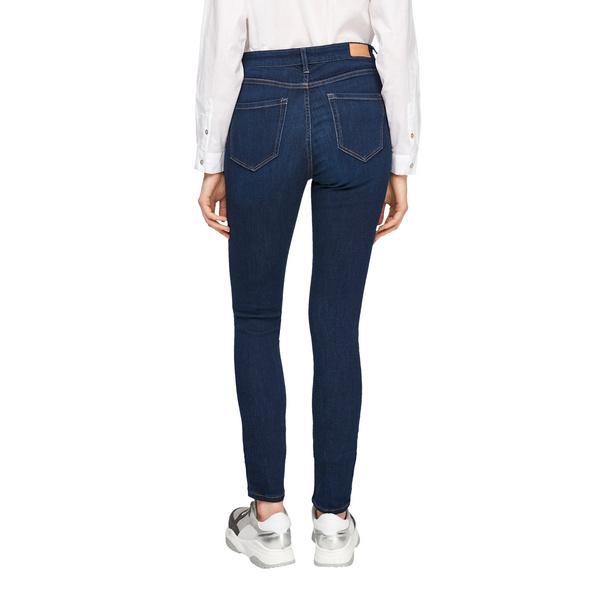 Skinny Fit: High Waist-Jeans - Denim