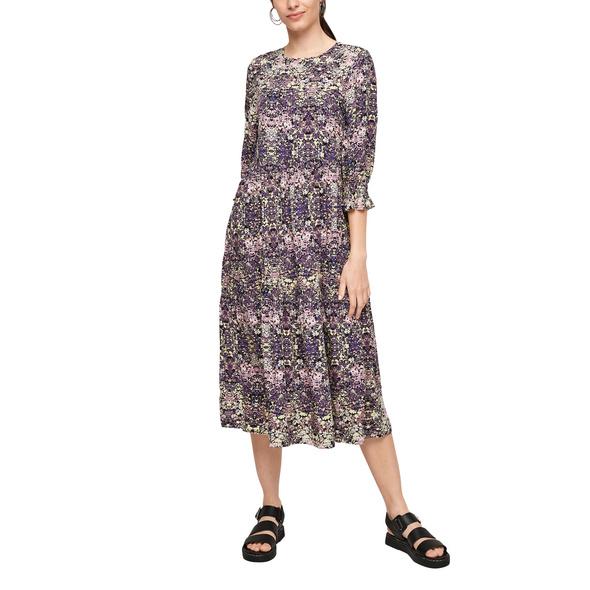 Viskosekleid mit Blumenmuster - Kleid