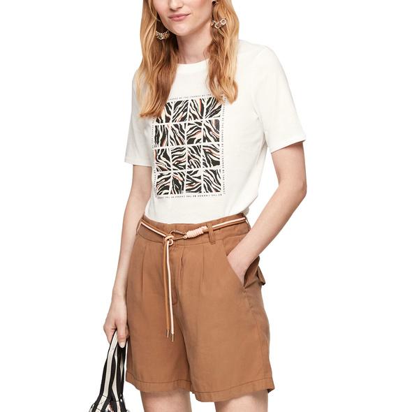 Jerseyshirt mit Frontprint - Baumwollshirt