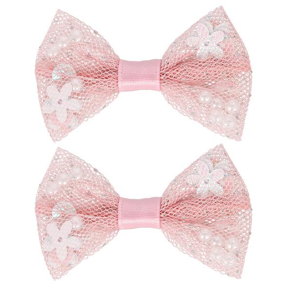 Kinder Haarklammer - Pink Sequin