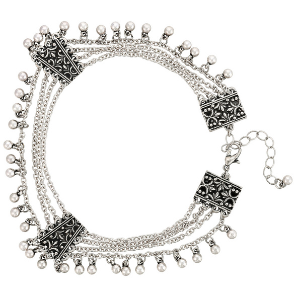 Fußkette - Oriental Silver