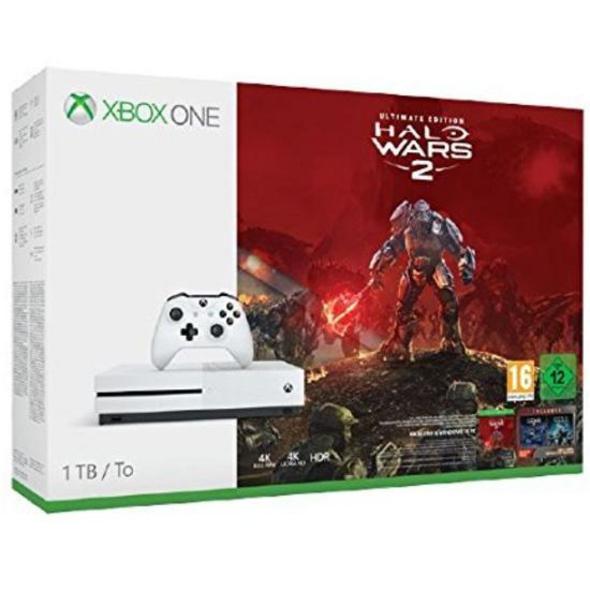 Microsoft Xbox One Konsole 1TB inkl. Halo Wars 2
