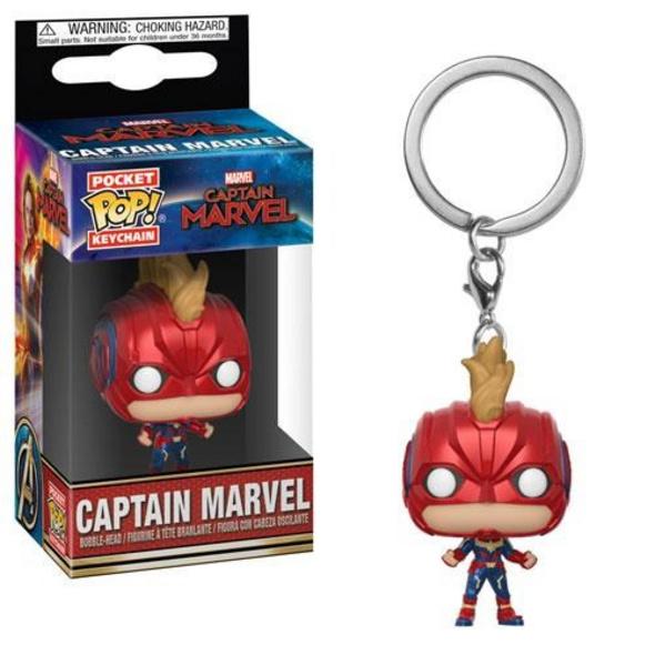 Captain Marvel - Pocket POP! Schlüsselanhänger Captain Marvel mit Helm