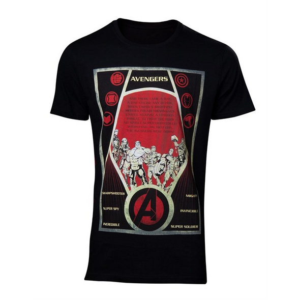 Marvel Avengers - T-Shirt Constructivism Poster (Größe L)