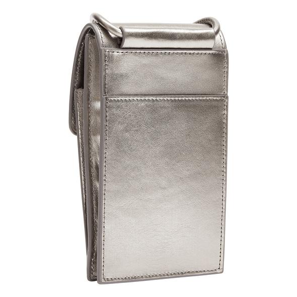 Handy Case zum Umhängen aus Leder in Metallic - Metallic Mobile Pouch