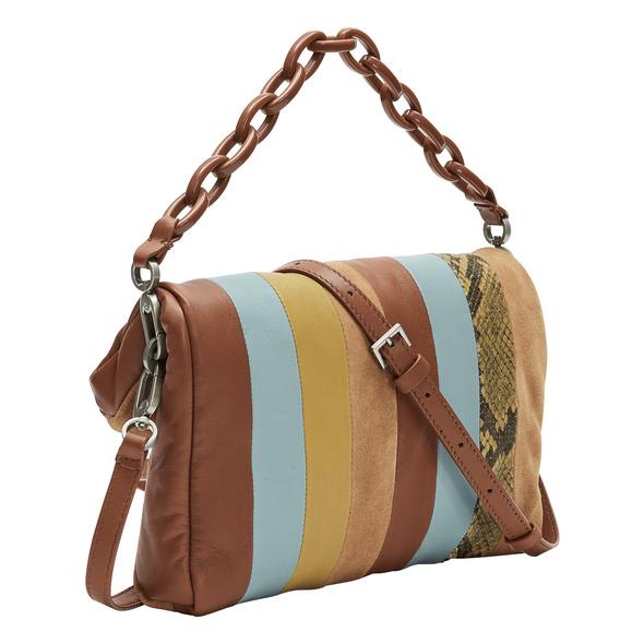 kleines Patchwork Bag mit Schlangenhautoptik - Jane Crossbody S