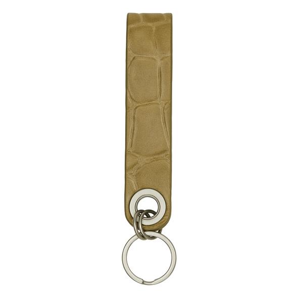 Leder Schlüsselanhänger mit Krokodilprägung - Kroko Keyring