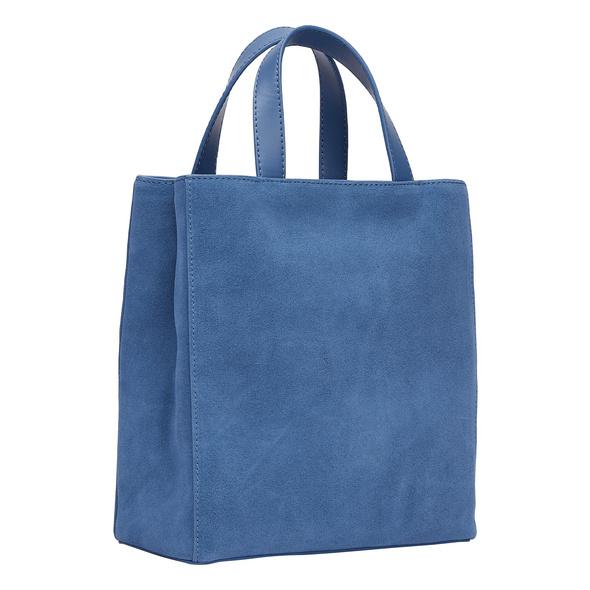 Kleine Paper Bag aus Wildleder - Paper Bag Suede Tote S