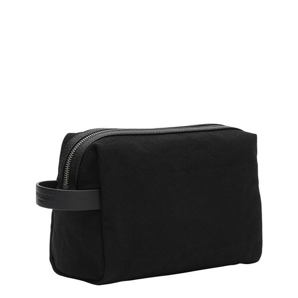 kleine Kosmetiktasche aus Canvas - Gray Cosmetic Pouch M