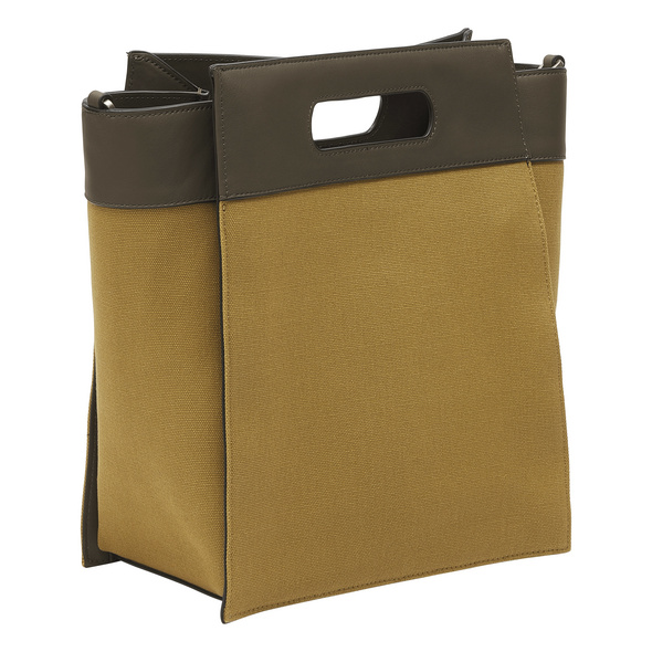 Canvas Tote Bag mit Glattleder - Olivia Tote L