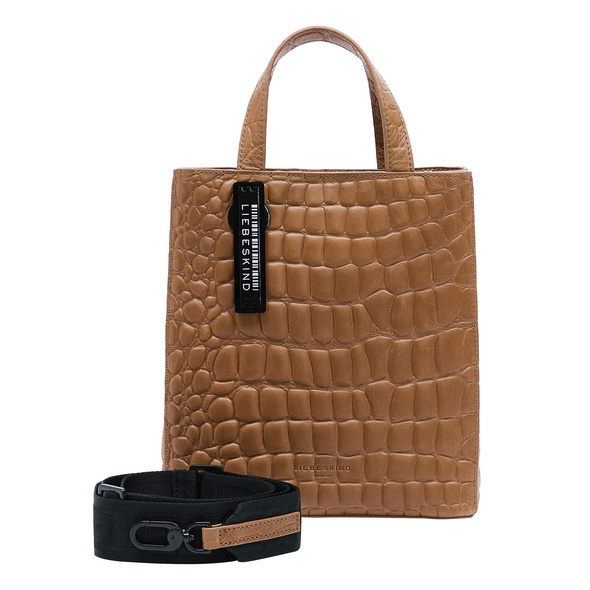 Paper Bag im Kroko-Look - Kroko Paper Bag Tote S