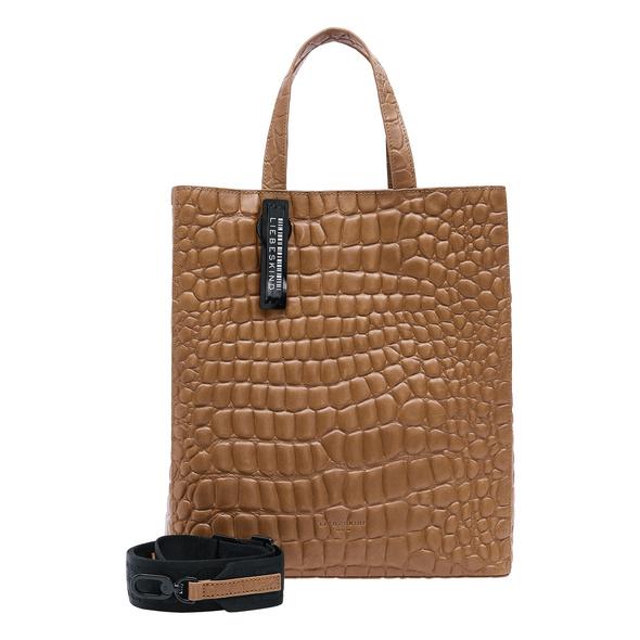 Handtasche im Kroko-Style - Kroko Paper Bag Tote M