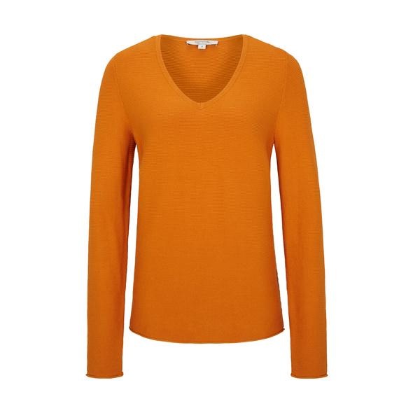 V-Neck-Pullover aus Feinstrick - Pullover