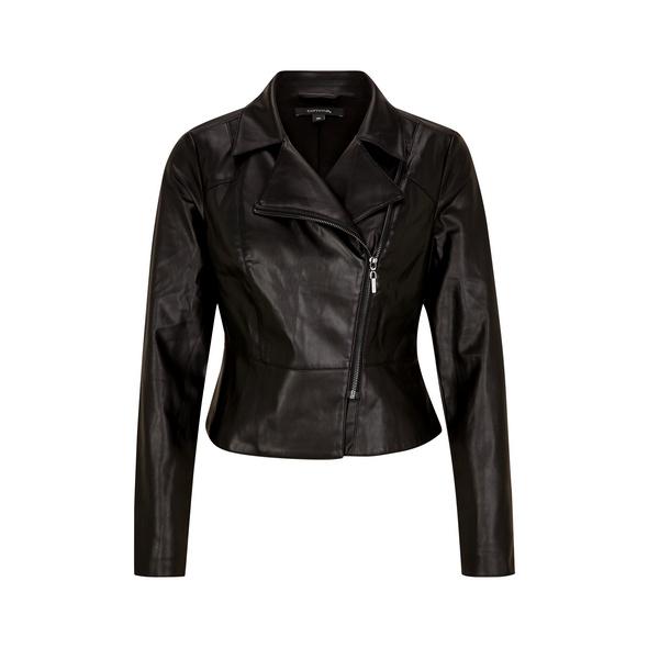 Kurze Jacke aus weichem Kunstleder - Fake-Leather-Jacket