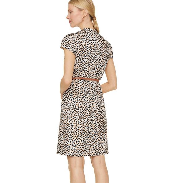 Printkleid mit Gürtel-Detail - Kleid