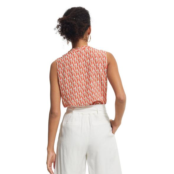 Ärmellose Bluse aus Crêpe - Blusentop