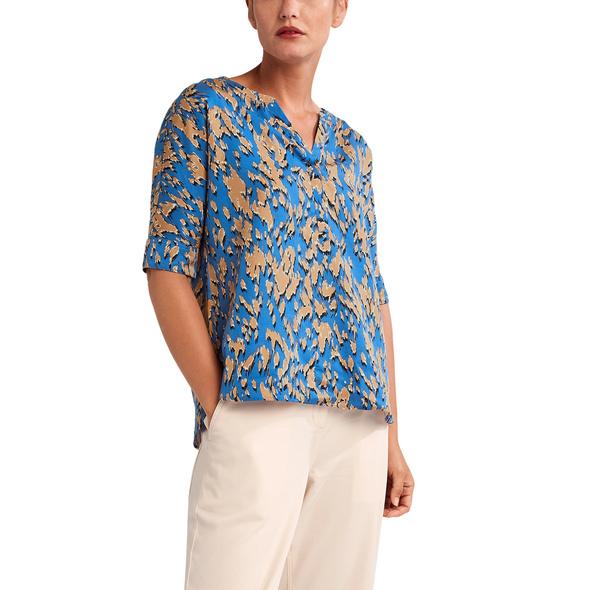 Gemusterte Bluse aus Lyocell - Tunikabluse