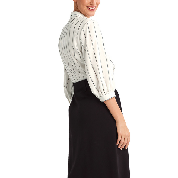 Gestreifte Bluse aus Viskosemix - Bluse