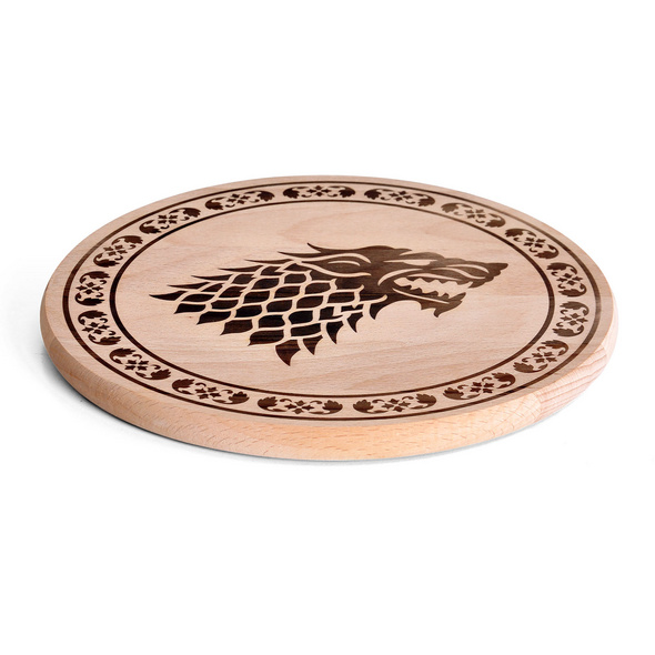 Game of Thrones - House Stark Schneidebrett Buche