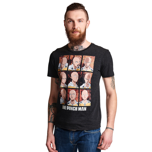 One Punch Man - Emotions of Saitama T-Shirt grau