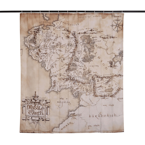 Herr der Ringe - Mittelerde Karte Duschvorhang
