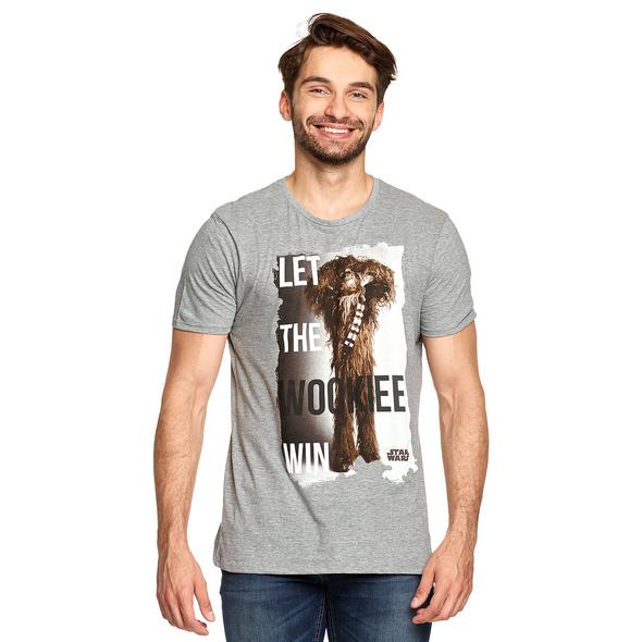 Star Wars - Let the Wookiee Win T-Shirt grau