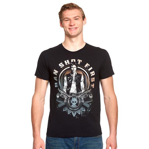 Star Wars - Han Solo Shot First T-Shirt schwarz