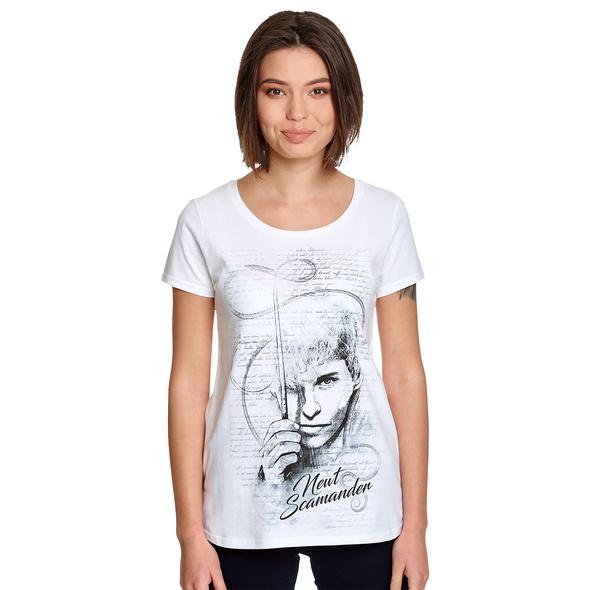 Scamander Sketch - Phantastische Tierwesen T-Shirt Damen weiß