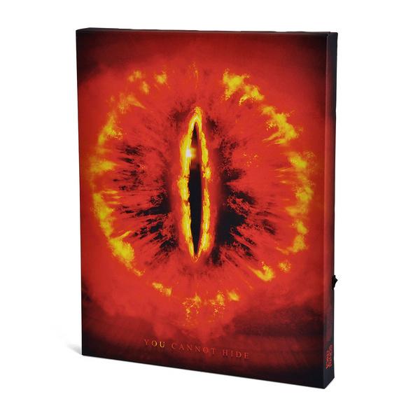 Herr der Ringe - Saurons Auge Wandbild mit Licht